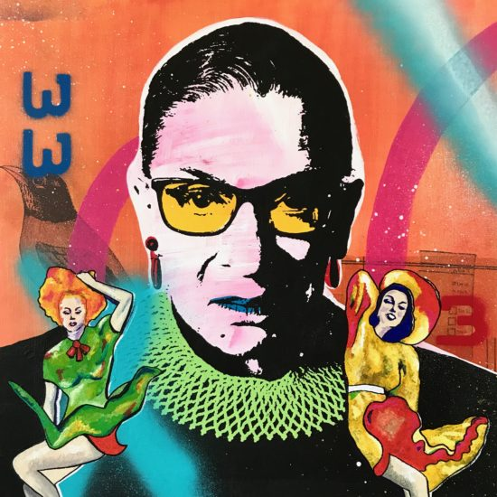 The Notorious RBG 02 Original Pop Art for Sale