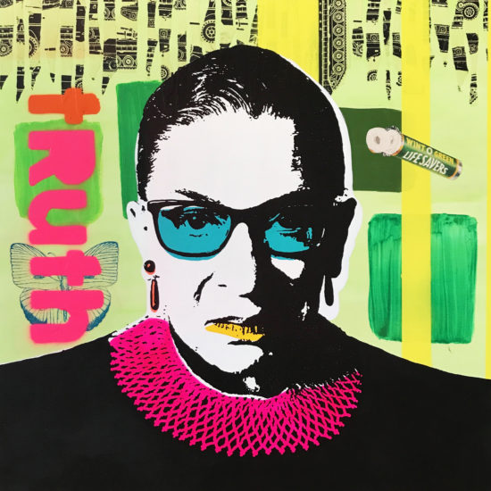 The Notorious RBG 05 Original Pop Art for Sale